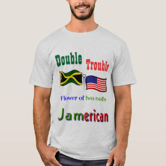 Double trouble Jamaican-American t-shirts