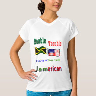 Double trouble Jamaican-American women  t-shirts