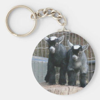 Double Trouble Basic Round Button Keychain