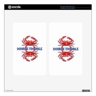 Double Trouble Kindle Fire Decals