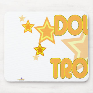 Double Trouble Orange Yellow Stars Part 1 Mouse Pad