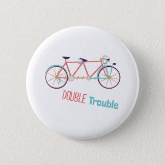 Double Trouble Pinback Button