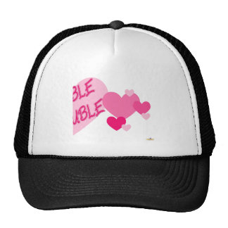 Double Trouble Pink Hearts Part 2 Trucker Hat