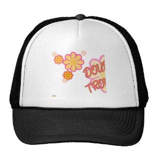 Double Trouble Pink Orange Flowers Part 1 Mesh Hat