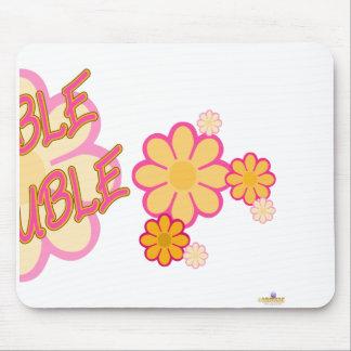 Double Trouble Pink Orange Flowers Part 2 Mouse Pad