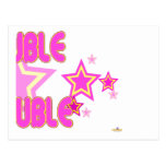 Double Trouble Pink Yellow Stars Part 2 Post Cards