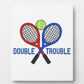 Double Trouble Plaque