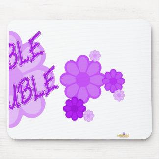 Double Trouble Purple Flowers Part 2 Mouse Pad