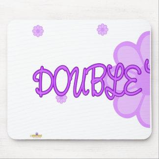 Double Trouble Purple Lt Flowers Part 1 Mouse Pad