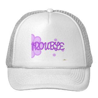 Double Trouble Purple Lt Flowers Part 2 Trucker Hats