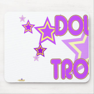 Double Trouble Purple Yellow Stars Part 1 Mouse Pad