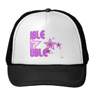 Double Trouble Purple Yellow Stars Part 2 Mesh Hat