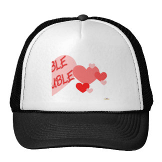 Double Trouble Red Hearts Part 2 Mesh Hats