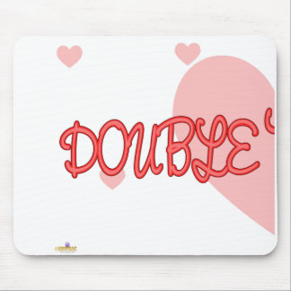 Double Trouble Red Lt Hearts Part 1 Mouse Pad