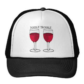 DOUBLE TROUBLE RED WINE PAIR PRINT MESH HATS