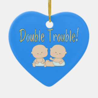 Double Trouble Twins Ceramic Ornament