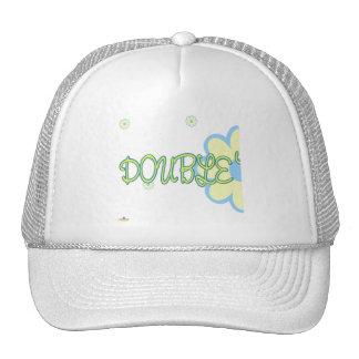 Double Trouble Yellow Blue Flowers Part 1 Mesh Hats
