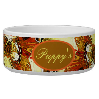 Double Tulip: Yellow and Red Pet Bowl
