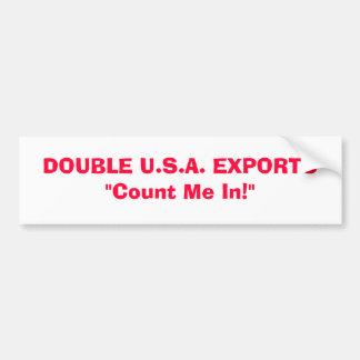 DOUBLE U.S.A. EXPORTS BUMPER STICKER