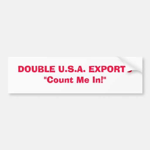 DOUBLE U.S.A. EXPORTS BUMPER STICKERS