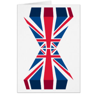 Double Union Jack, British flag in 3D Card