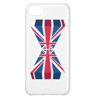 Double Union Jack, British flag in 3D Case For iPhone 5C