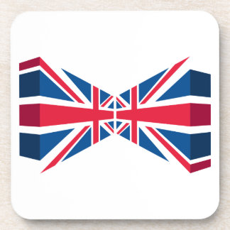 Double Union Jack, British flag in 3D Drink Coaster