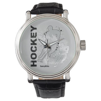 Double Vision Hockey (male) Wrist Watch