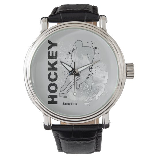 Double Vision Hockey (male) Wrist Watch