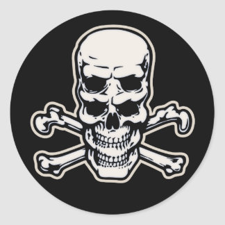 Double Vision Skull Classic Round Sticker