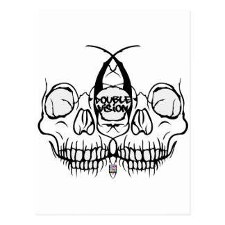 Double Vision Skull Postcard