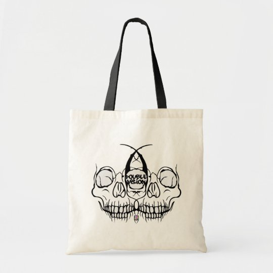 Double Vision Skull Tote Bag