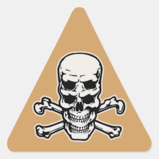 Double Vision Skull Triangle Sticker