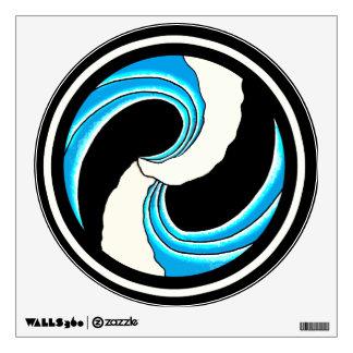 Double Wave Tattoo Wall Sticker