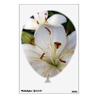 Double White Lilies Wall Decal