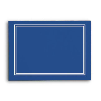 Double White Shadowed Border on Delphinium Blue Envelope