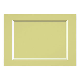 Double White Shadowed Border on Fern Green Card