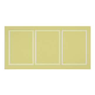 Double White Shadowed Border on Fern Green Photo Card