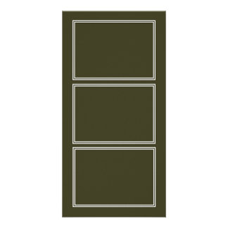 Double White Shadowed Border on Garden Boot Green Card