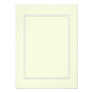 Double White Shadowed Border on Gardenia Cream Card
