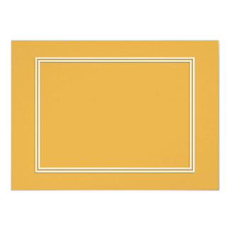 Double White Shadowed Border on Marigold Yellow Card