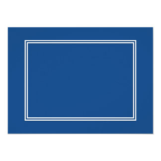 Double White Shadowed Border on Morning Glory Blue 5.5x7.5 Paper Invitation Card