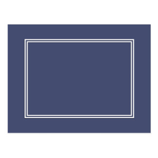 Double White Shadowed Border on Posy Violet Postcard