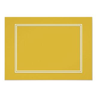 Double White Shadowed Border on Primrose Yellow 4.5x6.25 Paper Invitation Card