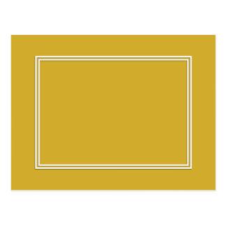 Double White Shadowed Border on Primrose Yellow Postcard