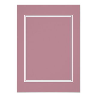 Double White Shadowed Border on Princess Plum Card