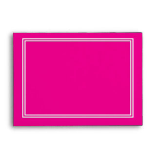 Double White Shadowed Border on Purple Pink Envelope
