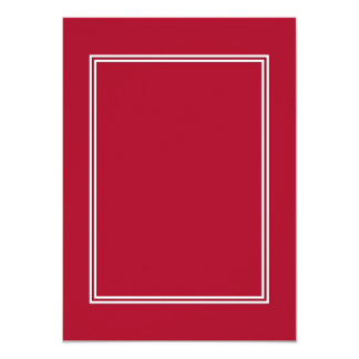 Double White Shadowed Border on Rose Red Card