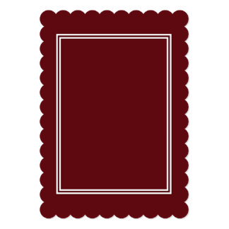 Double White Shadowed Border on Royal Rose Red Card