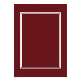 Double White Shadowed Border on Royal Rose Red 4.5x6.25 Paper Invitation Card